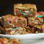 Chocolate Malt Ball Blondies