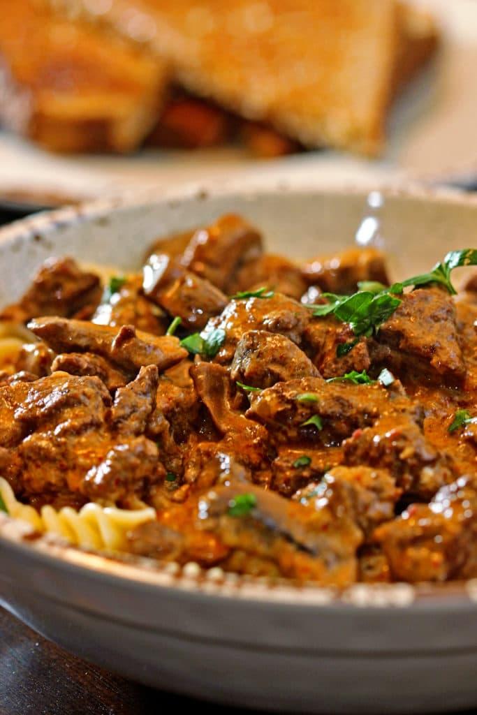 Harissa Beef Stroganoff5