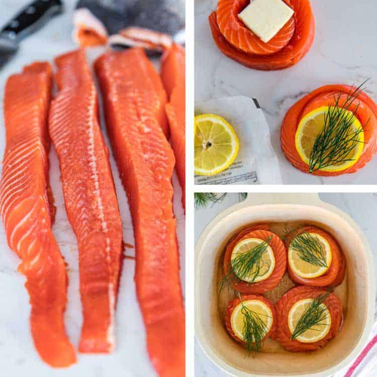 prep photos for salmon pinwheels