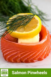 salmon with butter, lemon and dill