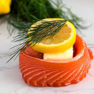 Lemon Dill Salmon Pinwheels