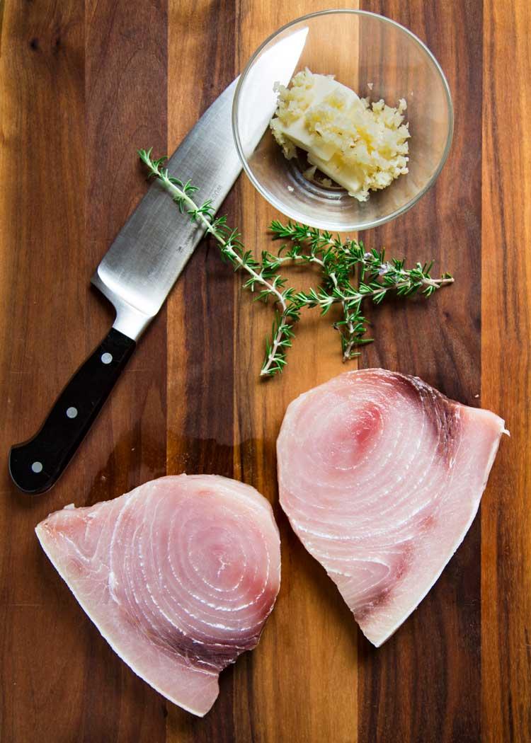 prep photo of Lemon Rosemary Grilled Swordfish