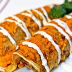 Pork Verde Enchiladas with Hominy
