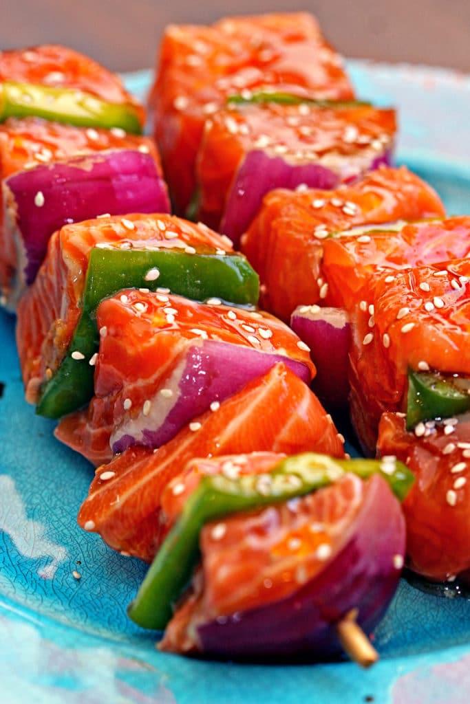 Sesame Salmon Kabobs1