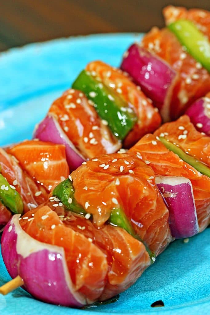 Sesame Salmon Kabobs2