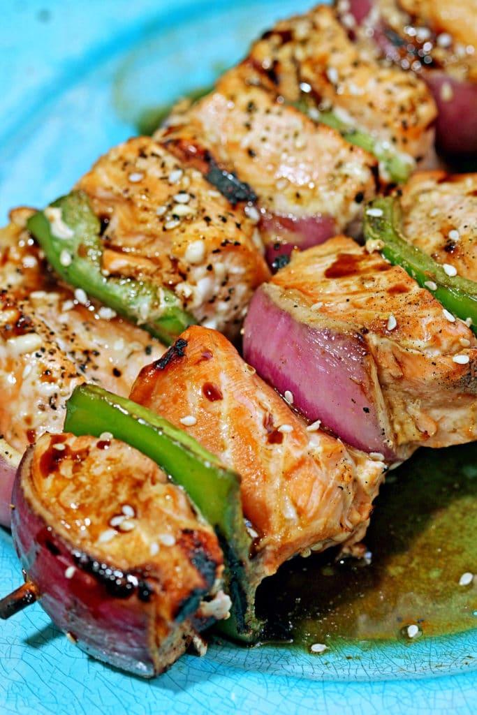 Sesame Salmon Kabobs7