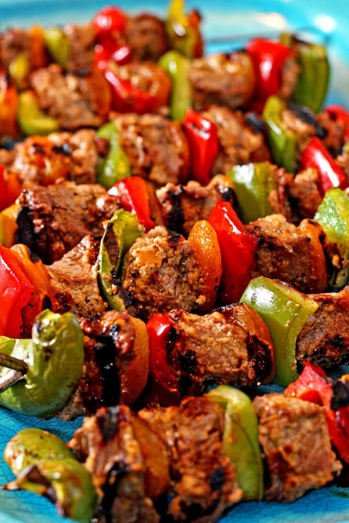 Spicy Honey Yogurt Lamb Kabobs11