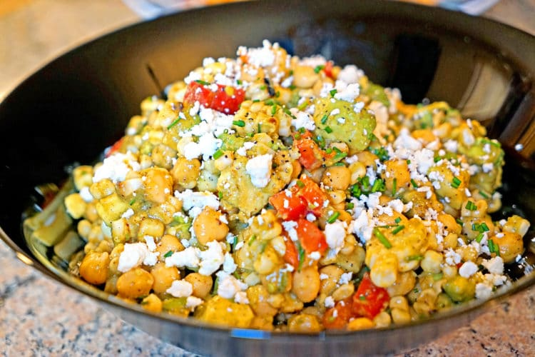 Chickpea, Avocado and Grilled Corn Saladkeviniscooking.com