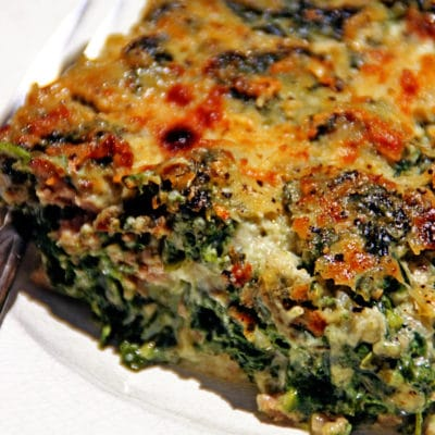 Creamed Spinach with Lamb