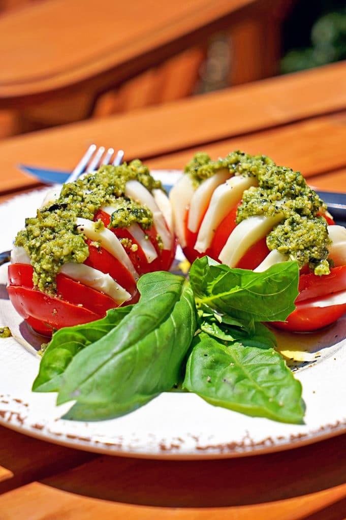Hasselback Caprese Salad4