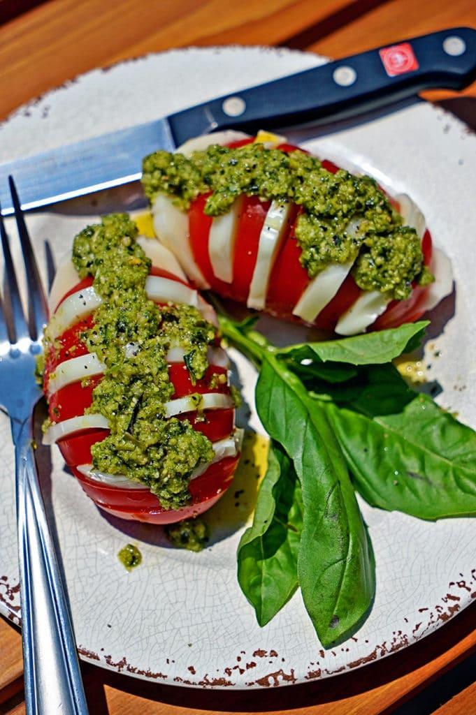 Hasselback Caprese Salad5