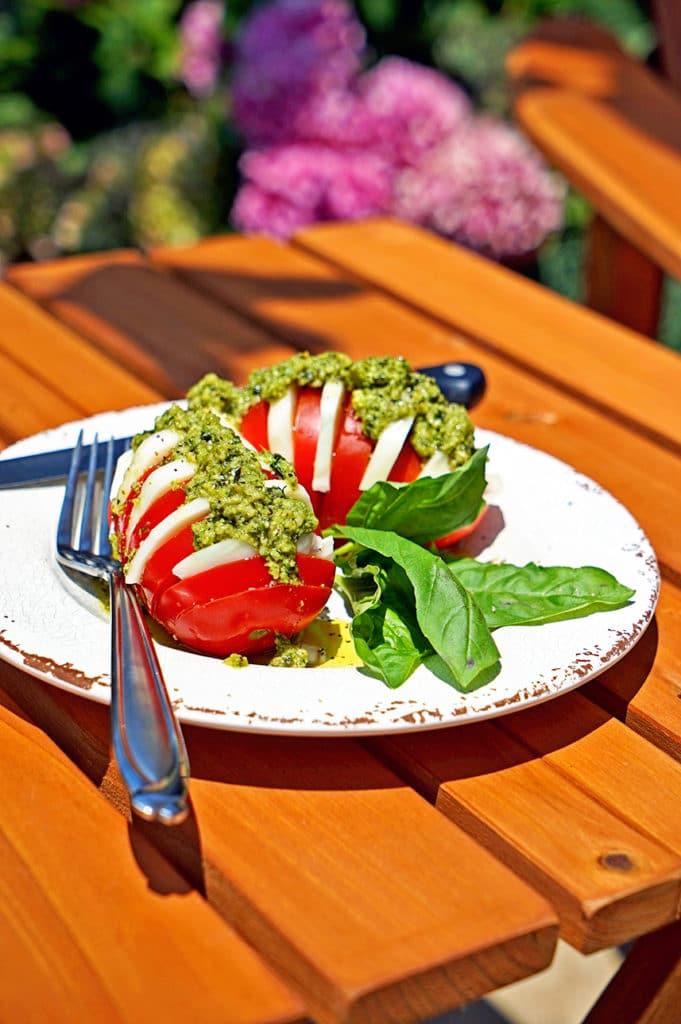 Hasselback Caprese Salad6