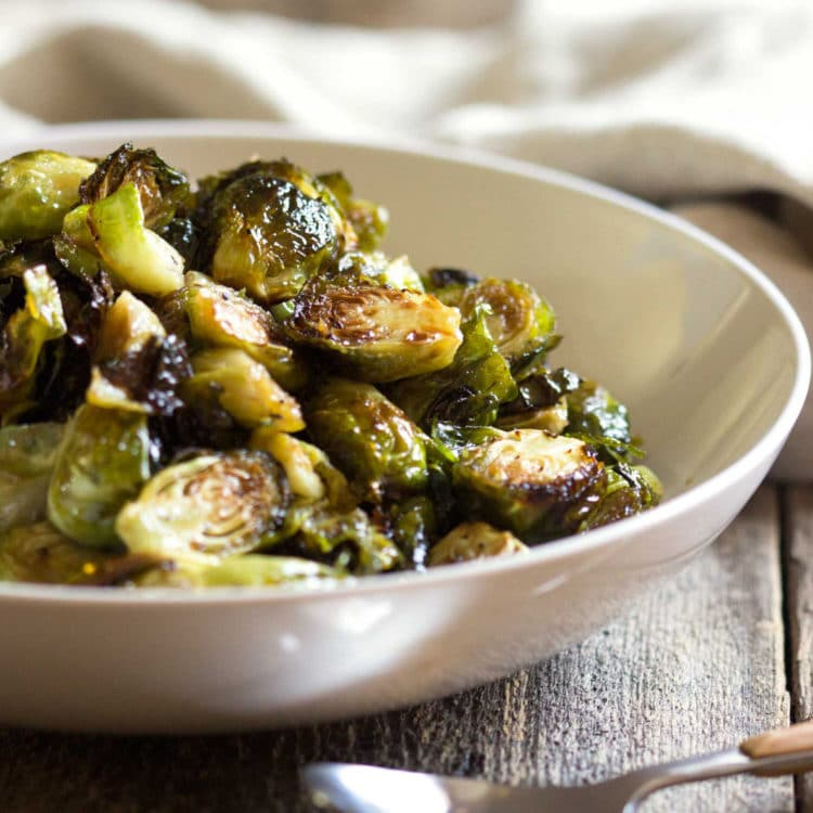 These Honey Balsamic Roasted Brussels Sprouts are not only beyond easy to prepare, but I guarantee they will be gone in no time so make plenty! www.keviniscooking.com