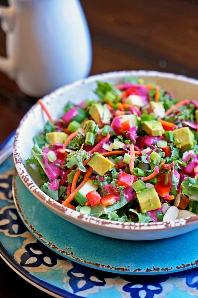 Blackberry Tarragon Vinaigrette Kale Salad1