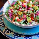 Kale Salad with Blackberry Tarragon Dressing