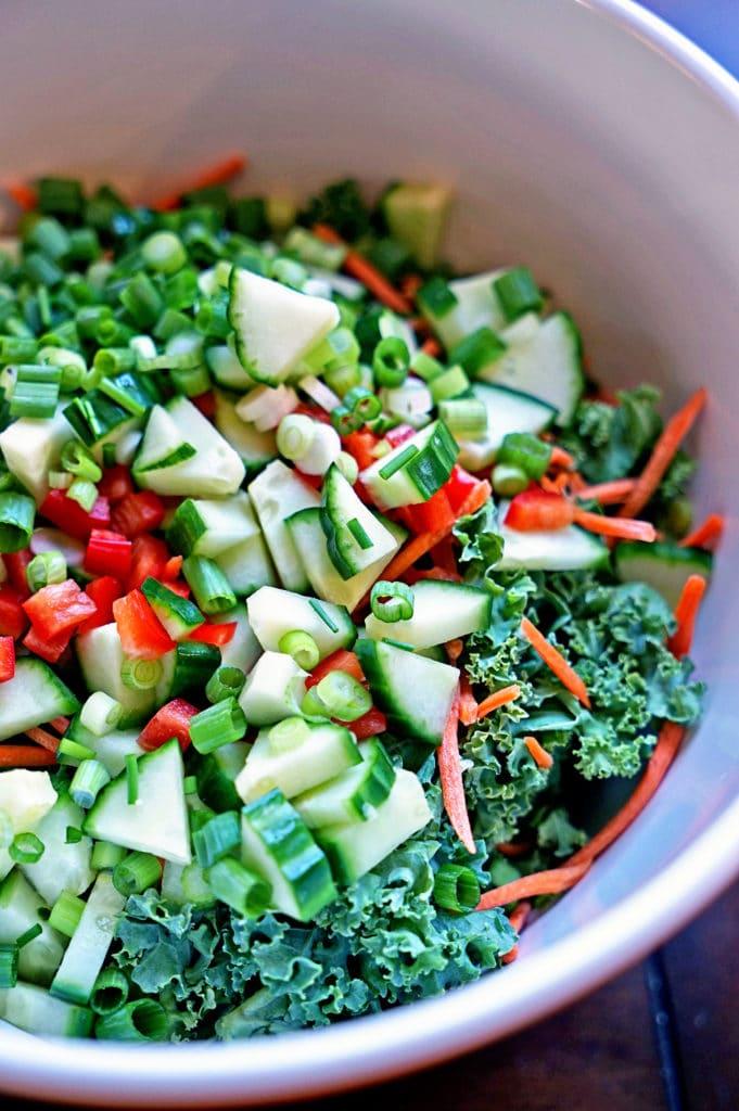 Blackberry Tarragon Vinaigrette Kale Salad3