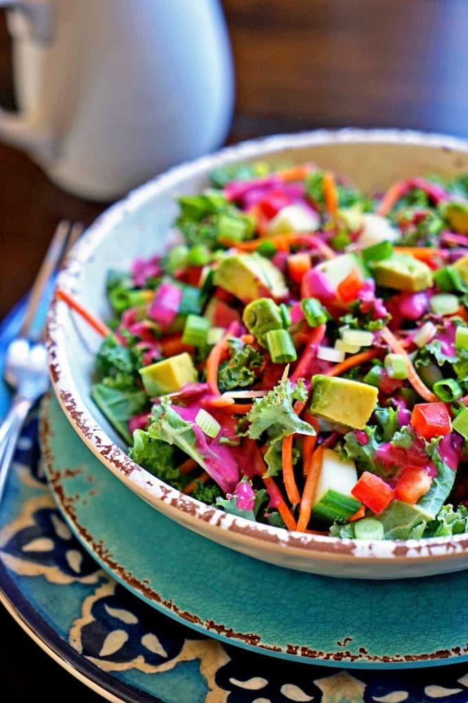 Blackberry Tarragon Vinaigrette Kale Salad7