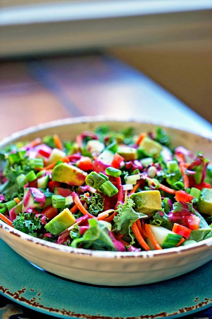 Blackberry Tarragon Vinaigrette Kale Salad8