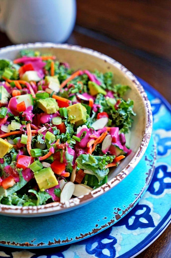 Blackberry Tarragon Vinaigrette Kale Salad9