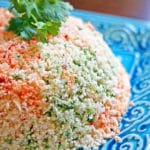 Cauliflower Couscous with Cilantro, Red Pepper and Lime