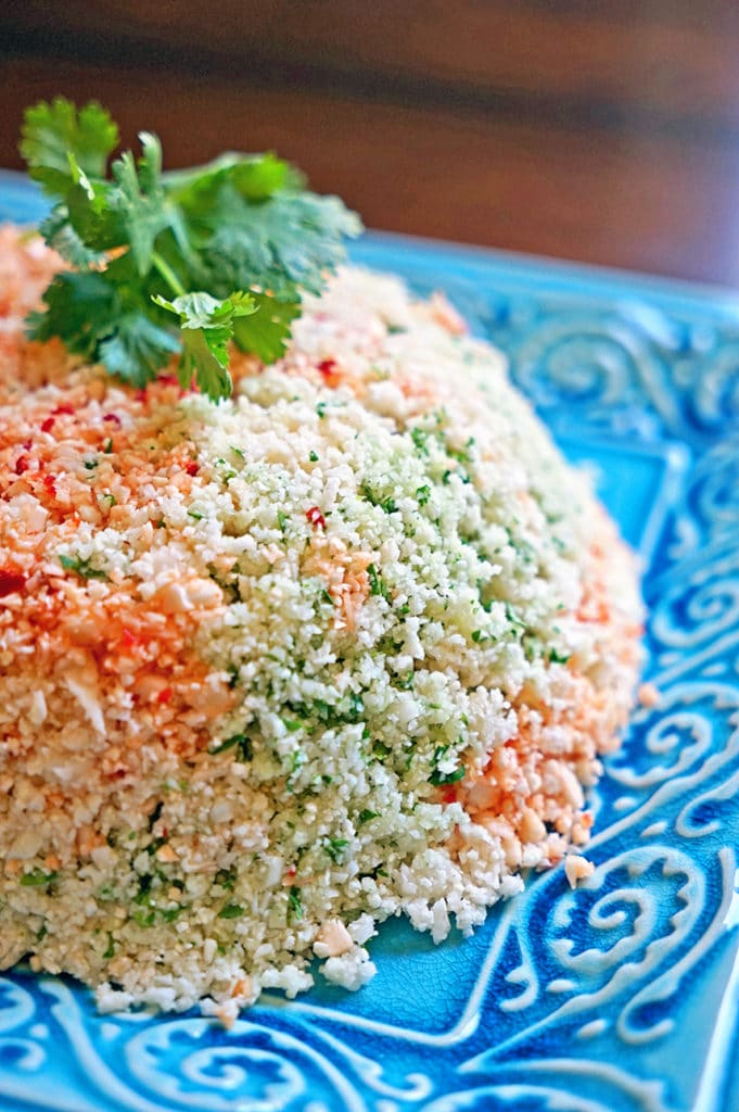 Cauliflower Couscous with Cilantro, Red Pepper and Lime1