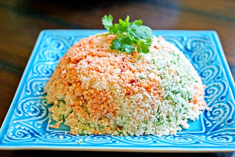 Cauliflower Couscous with Cilantro, Red Pepper and Lime4
