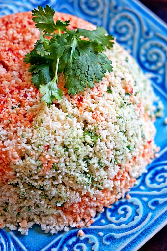 Cauliflower Couscous with Cilantro, Red Pepper and Lime6