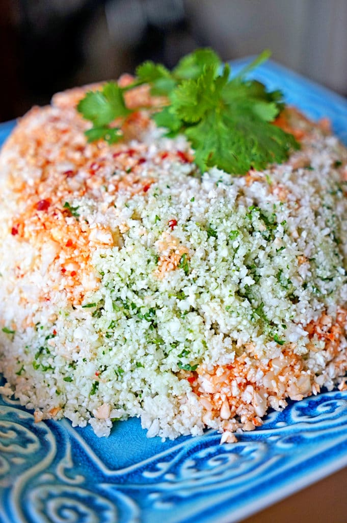 Cauliflower Couscous with Cilantro, Red Pepper and Lime7