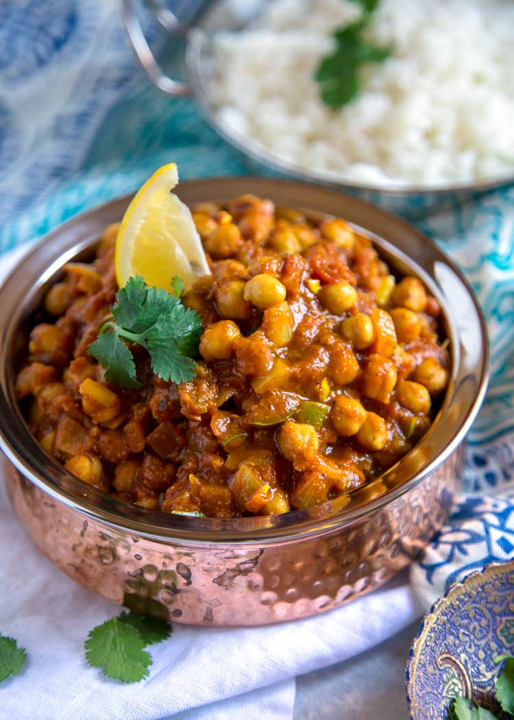Easy Chickpea Masala - Chana Masala
