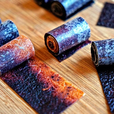 Easy Nectarine Blueberry Fruit Roll Ups
