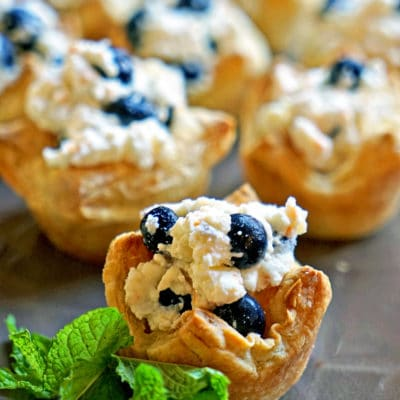 Easy Ricotta Blueberry Puffs