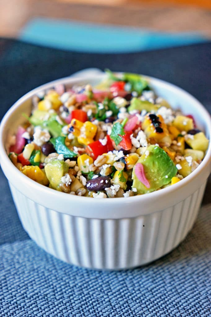 Farro Salad with Pineapple, Avocado and Black Beans1