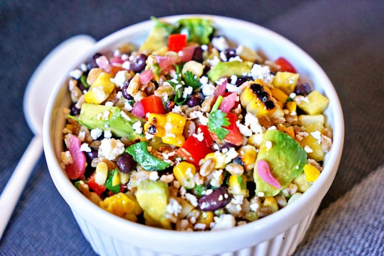Farro Salad with Pineapple, Avocado and Black Beans2