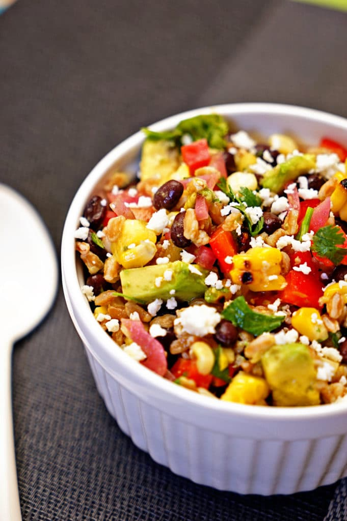 Farro Salad with Pineapple, Avocado and Black Beans4