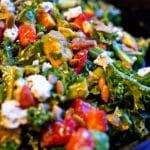Kale Salad with Avocado Lemon Vinaigrette
