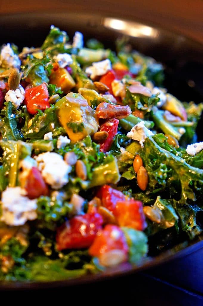 Kale Salad with Avocado Lemon Vinaigrette5