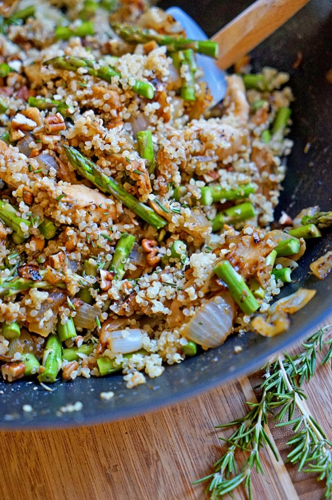 Maple Dijon Rosemary Chicken with Asparagus and Quinoa2