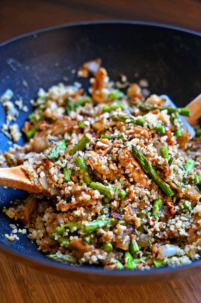 Maple Dijon Rosemary Chicken with Asparagus and Quinoa6