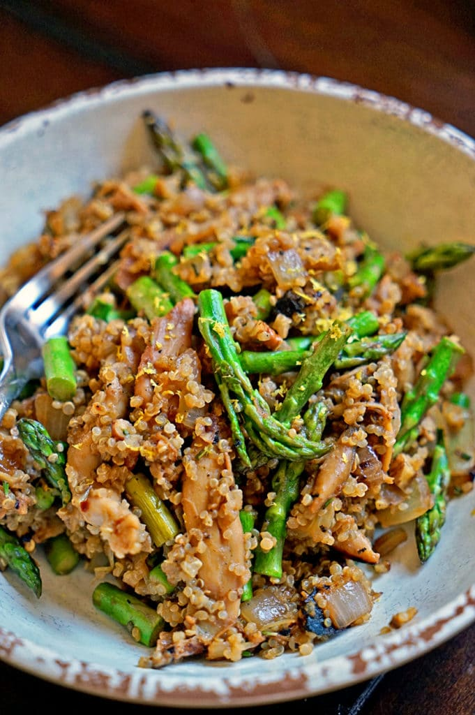 Maple Dijon Rosemary Chicken with Asparagus and Quinoa8
