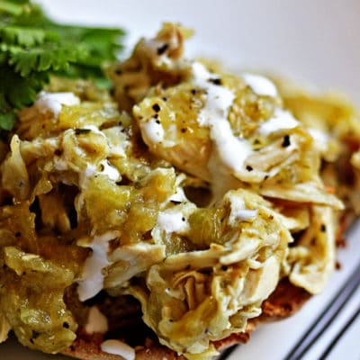 Open Faced Pollo Verde Sandwich