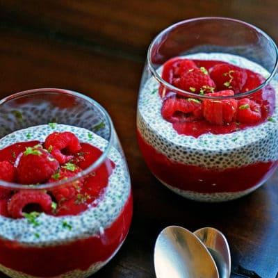Raspberry Lime Chia Pudding
