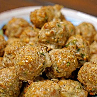 Roasted Garlic Turkey Meatballs
