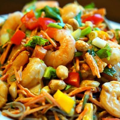 Thai Shrimp Salad with Buckwheat Noodles