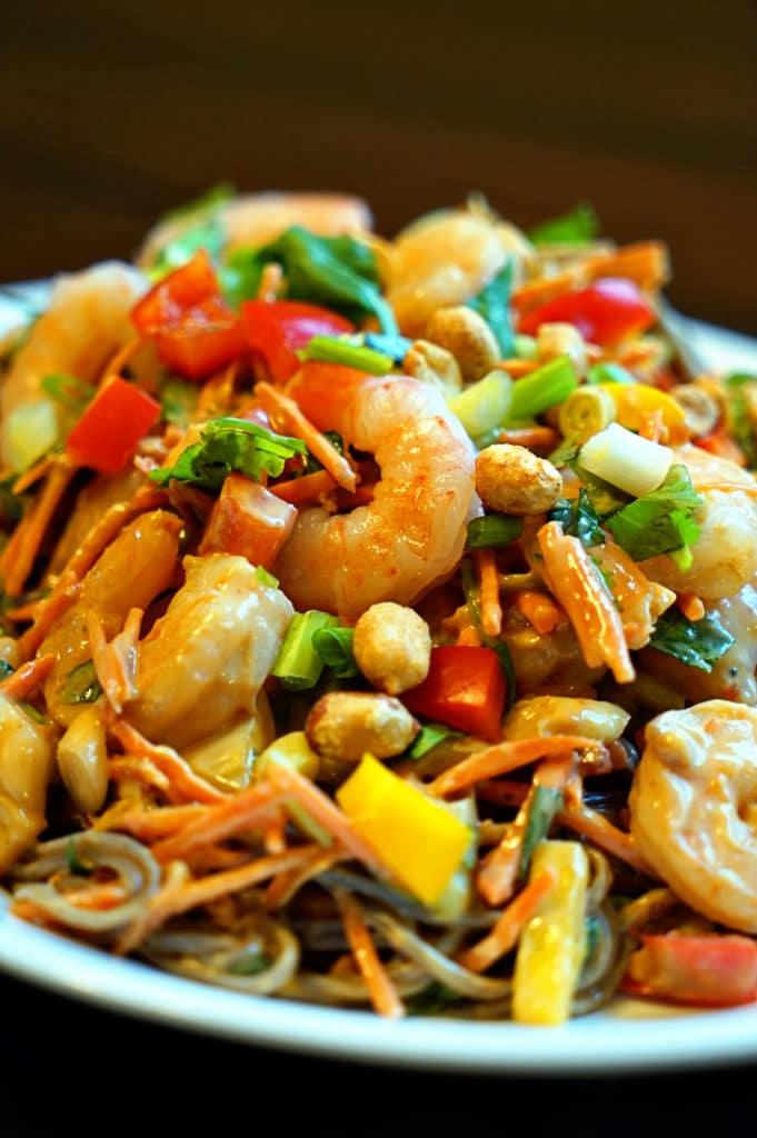 Thai Peanut Shrimp Pasta Salad1