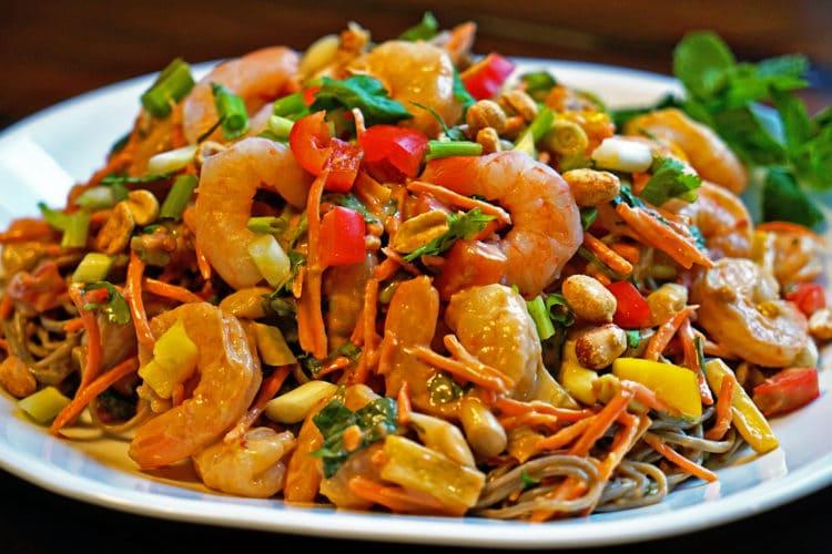 Thai Peanut Shrimp Pasta Salad2