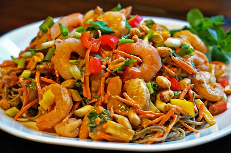 Thai Shrimp Salad with Buckwheat Noodles - keviniscooking.com
