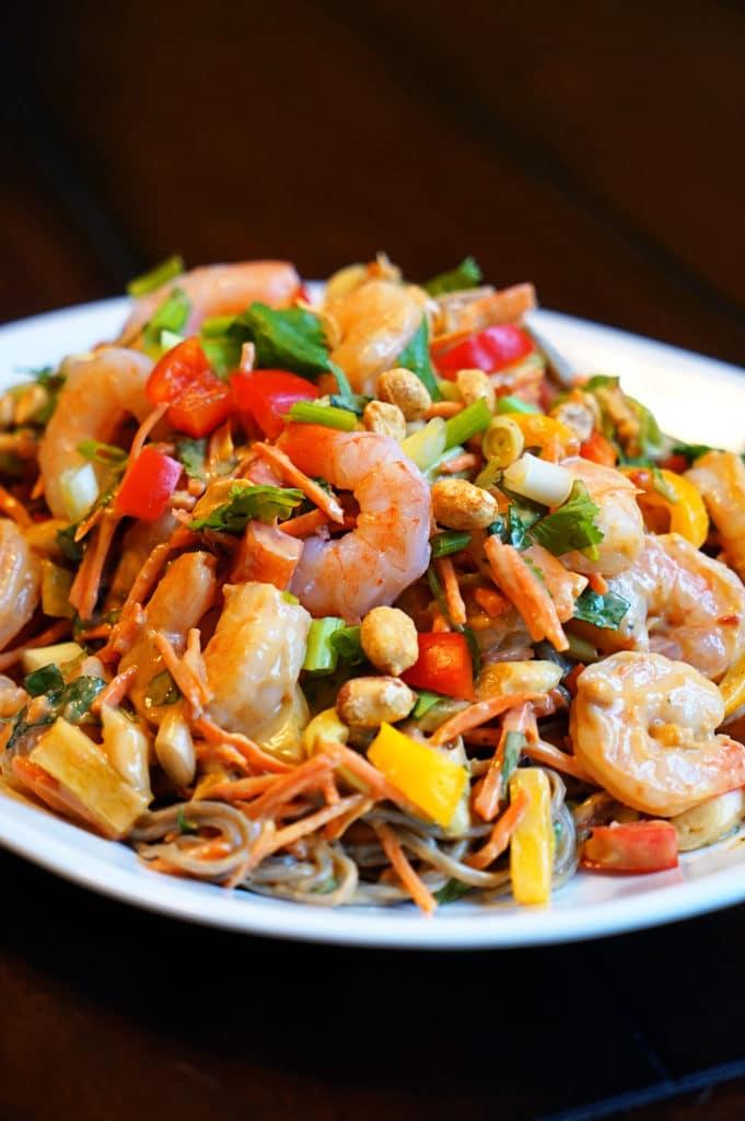 Thai Peanut Shrimp Pasta Salad5