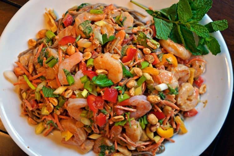 Thai Peanut Shrimp Pasta Salad6