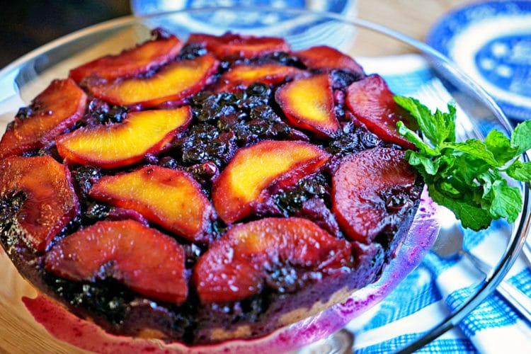 Blueberry Peach Upside-Down Cake11