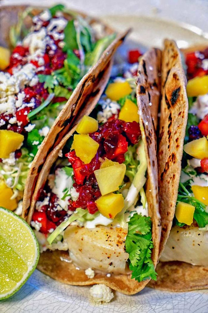 Fish Tacos with Fruit Salsa